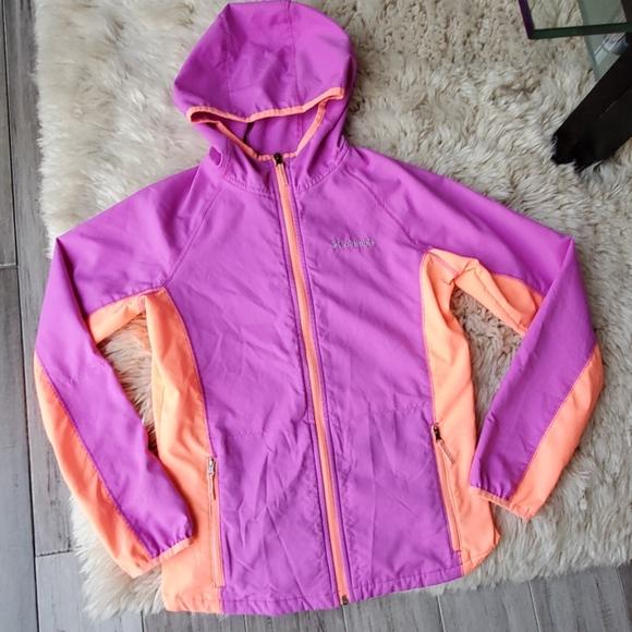 Columbia Full Zip Hooded Rain Jacket Windbreaker